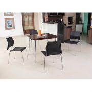 Conj. p/ S. de Jantar com Mesa de Madeira 90x90 cm e 04 Cadeiras Modelo 5001