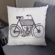 Almofada Bike - Preta e Branco 50x50cm