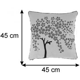 Almofada Decorativa Árvore Flor 45x45 Cm