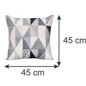 Almofada Decorativa Geométrica Cinza 45 x 45 cm Spazzio