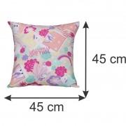 Almofada Decorativa Unicórnio 45 x 45 cm Spazzio