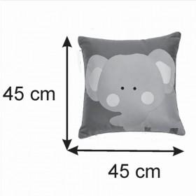 Almofada Infantil Quadrada 40x40 Cm Baby Elefantinho