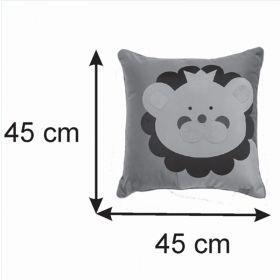 Almofada Infantil Quadrada 40x40cm Baby Leãozinho