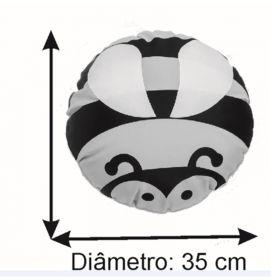 Almofada Infantil Redonda 35 cm Baby Abelhinha