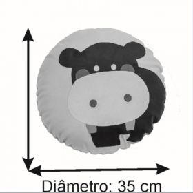 Almofada Infantil Redonda 35 Cm Baby Hipopotamozinho