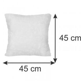 Almofada Pelúcia Branca 45 x 45 cm