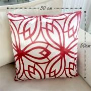 Almofada Veludo Prêmium 02 - Vermelha  50x50cm