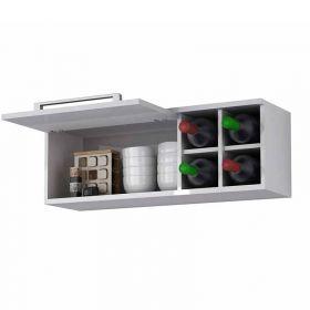 Armário Refrigerador Palmeira Ravenea com porta basculante e mini adega 32100