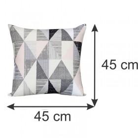 Capa para Almofada Decorativa Geométrica Cinza 45 x 45 cm Spazzio