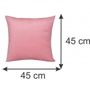 Capa para Almofada Decorativa Rosa 45 x 45 cm Spazzio