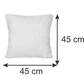 Capa para Almofada Pelúcia Branca 45 x 45 cm