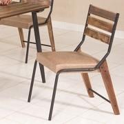 Conj. p/ s. jantar com mesa de madeira estilo demolição 90 x 90 cm e 04 cadeiras 823
