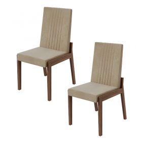 Conjunto 02 Cadeiras Áries Imbuia Naturale Lopas