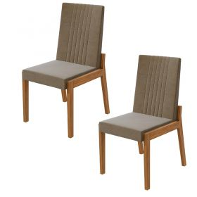 Conjunto 02 Cadeiras Áries Rovere Naturale Lopas