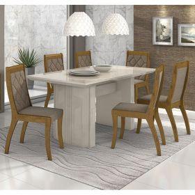 Conjunto 02 Cadeiras Merengue Rovere Velvet Riscado Castor