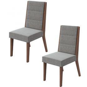 Conjunto 02 Cadeiras Saara Imbuia Naturale Lopas