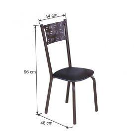 Conjunto 04 cadeiras Modelo 551 na Cor Preta Modecor
