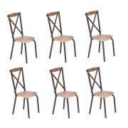 Conjunto 06 Cadeiras encosto de MDF estilo Demolição Modelo 416