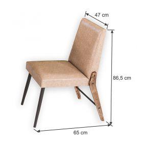 Conjunto 08 cadeiras Modelo 832 Café com Courino A905 Modecor