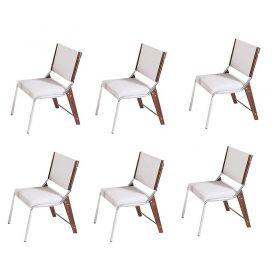 Conjunto 6 Cadeiras Estofada Gaia Modelo 822 Modecor