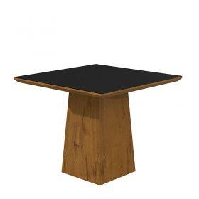 Conjunto Completo Sala de Jantar Mesa Nevada 100 cm 04 Cadeiras Dafne com Aparador e Quadro Espelho Lopas