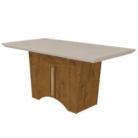 Conjunto Completo Sala de Jantar Mesa 180 cm Rock 06 Cadeiras Apogeu e Buffet Ballet Rovere Soft com Off White Lopas