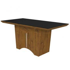 Conjunto Completo Sala de Jantar Mesa 180 cm Rock 06 Cadeiras Apogeu e Buffet Ballet  Rovere Soft Lopas