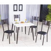 Conjunto de Mesa Iris 80 cm e 04 Cadeiras Café Modelo 551