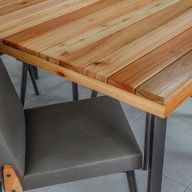 Conjunto para Sala de Jantar Hibisco Mesa em Madeira 160 cm Café e 06 cadeiras Modelo 832