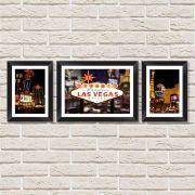 Conjunto Quadros Decorativos com Moldura e Vidro Vegas
