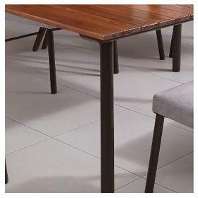 Conjunto Sala de Jantar Azaléia Plus Mesa em Madeira estilo Demolição 160 cm Café e 06 cadeiras Modelo 833