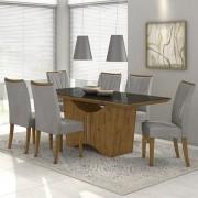 Conjunto Sala de Jantar Mesa Rock 180 cm e 06 Cadeiras Apogeu Lopas