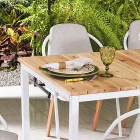 Conjunto Sala de Jantar Tulipa Mesa em Madeira 160 cm e 06 cadeiras Estofadas Modelo 828