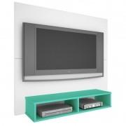 Painel TV Twister  - Branco/Aqua