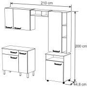 Cozinha Compacta com Balcão Móvel Decari 02