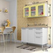 Cozinha Compacta com Pia Inox Itatiaia Tarsila