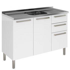 Cozinha Itatiaia Dandara 04 peças C/ PIA INOX 120cm