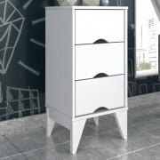 Criado Twister 3 gavetas - Neve/Branco