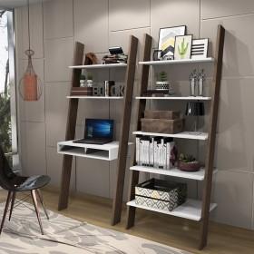 Estante Escada Com Escrivaninha Modular Multiuso Minas Office