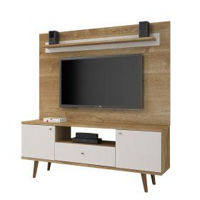 Estante Home Titânio TV até 60 polegadas JCM 02 Portas e 01 Gaveta