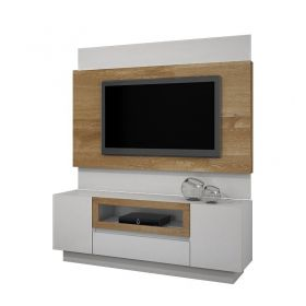 Estante Home Urânio TV até 56 polegadas JCM 02 Portas, 01 gaveta e Suporte para TV Grátis
