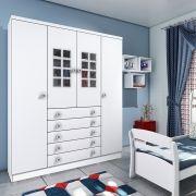Guarda-Roupa Infantil 04 Portas Primore Branco