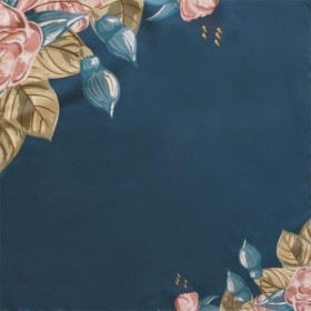 Guardanapo em Tecido Azul Flores