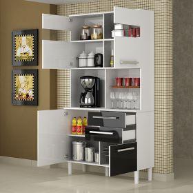 Kit Cozinha 04 portas e 02 gavetas Ravenea 32321 Palmeira