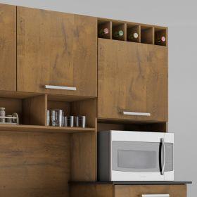 Kit Cozinha compacta Califórnia 06 portas 03 gavetas Palmeira