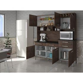 Kit Cozinha compacta Califórnia 06 portas 04 gavetas Palmeira