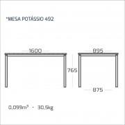 Mesa de jantar com tampo em madeira 160 x 90 modelo 492
