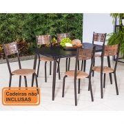 Mesa de Jantar Modelo 879 Tampo de MDF 140 x 80 na Cor Café Modecor