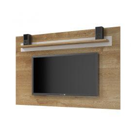 Painel TV até 60 polegadas Titânio com prateleira alta Retrô JCM