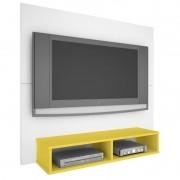 Painel TV Twister  - Branco/Amarelo